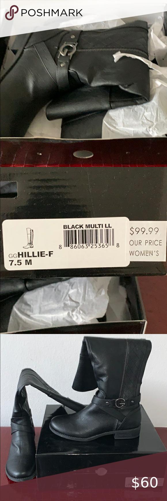 guess black multi ll boots