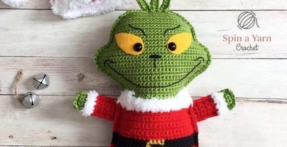 The Grinch Free Crochet Pattern #grinchscarfcrochetpatternfree
