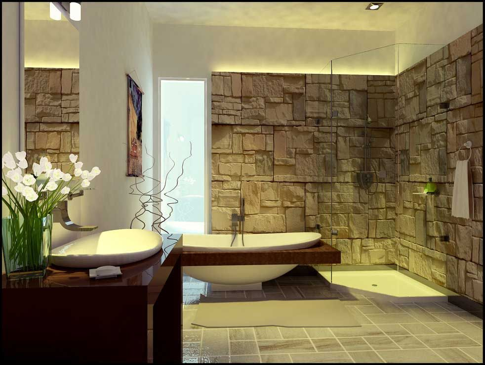 10 wildly unique and artistic bathrooms 2011 unique and exotic stone wall bathroom by arkiden124
