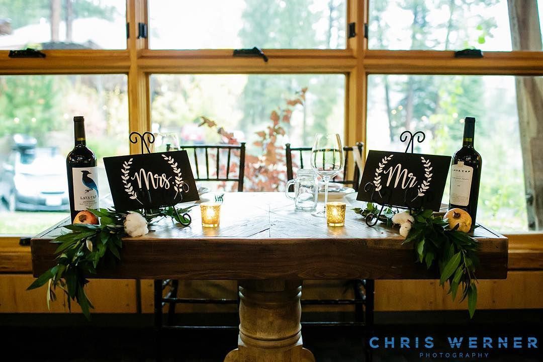 A beautiful shot of our sweetheart table and matching