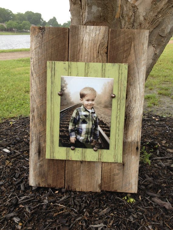 Barn Wood Picture Frame - Plank Style 5x7 | Portarretrato, Muebles ...