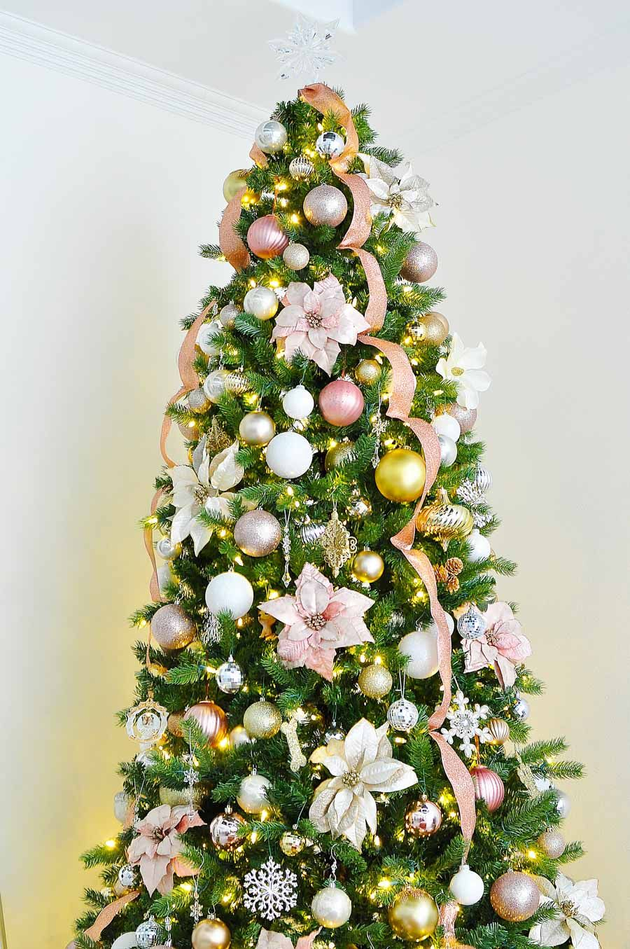 My Home Style Christmas Tree 2017 Ribbon On Christmas Tree Pink