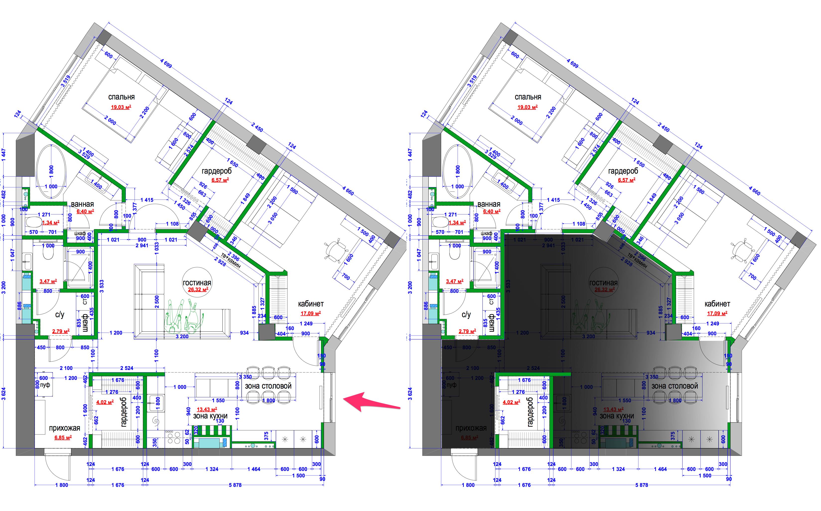 план квартиры sketchup инструкция