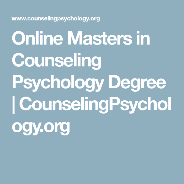 Online Masters in Counseling Psychology Degree ...