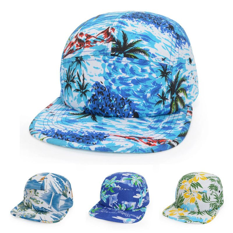 867b830e Find More Baseball Caps Information about 4 Styles Brand New Cool Tropical  Print Hawaii Beach Snapback