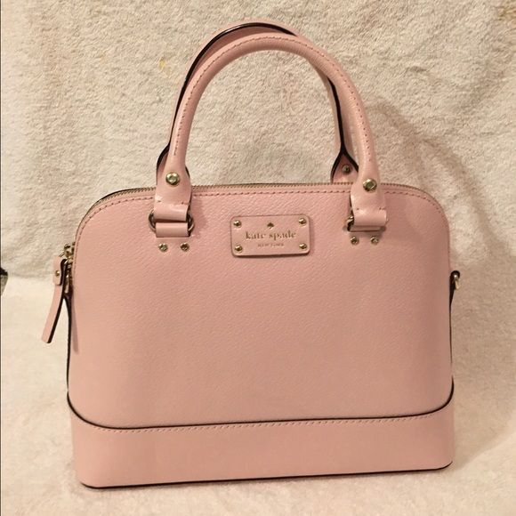 """Kate Spade Bag - NWT Authentic Kate Spade Small Rachelle Wellesley Bag. The color is possypink. Comes with a long and short strap. Measurements: 9"""" H x 12.5"""" W x 4.9 """" D.  Zip to closure. Inside has a zippered pocket and double slide pocket. Comes from a smoke-free and pet-free home. Fast shipping; ships the following business day. kate spade Bags Crossbody Bags"""