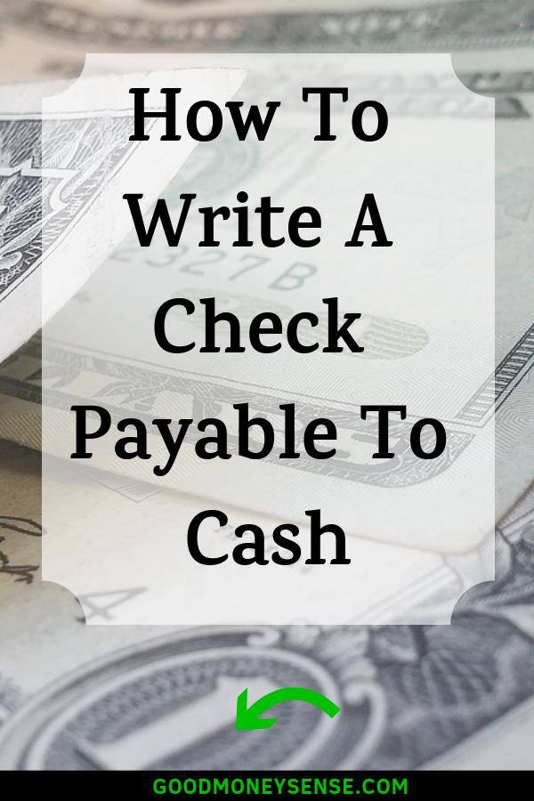 Why You Should Never Write A Check For Cash Good Money Sense Money Sense Money Management Writing