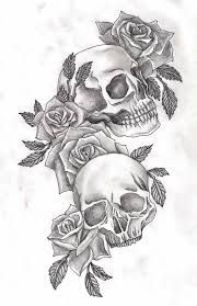 Image Result For Girl Skull Tattoos With Roses Skull Rose Tattoos Tattoo Design Drawings Tattoo Designs Men