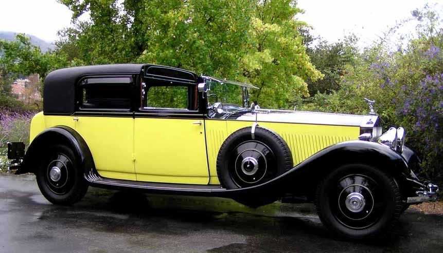 The Yellow Rolls Royce Fully Restored From The Movie Of The Same Name Rolls Royce Rolls Royce Limousine Royce