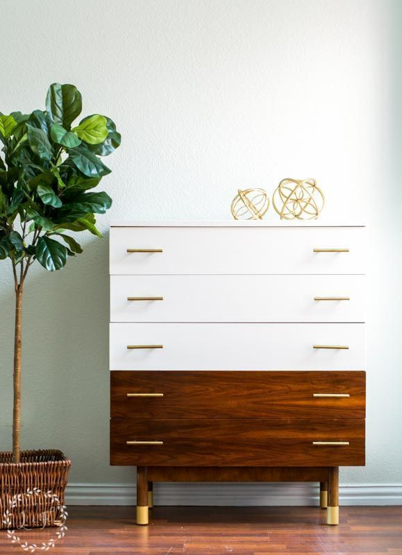 Here's a great walkthrough on how to paint mid century modern furniture and stil keep that sleek modern look and feel.