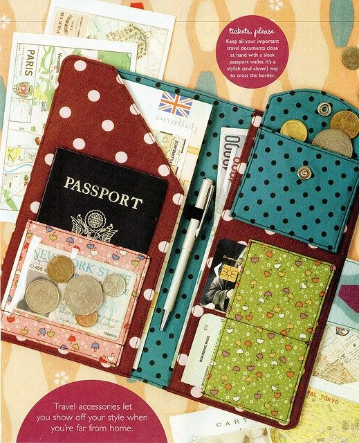 Passport Travel Wallet Sewing Patterns - Round Up! | Pinterest ...