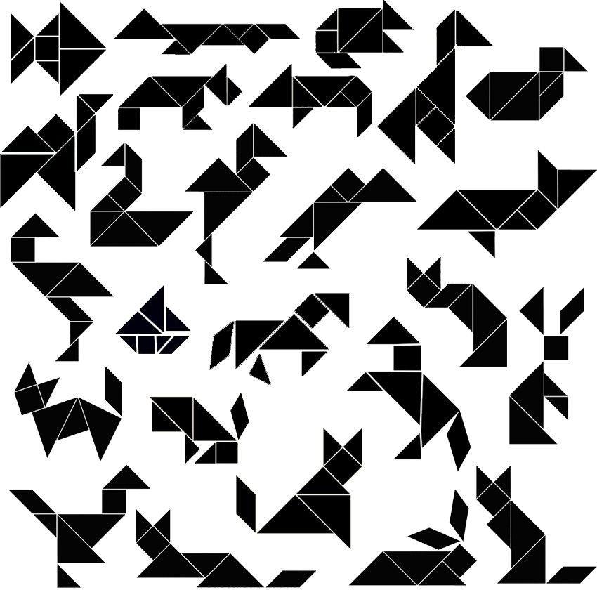 Craftaholics Anonymous: Tangram Puzzles, Art