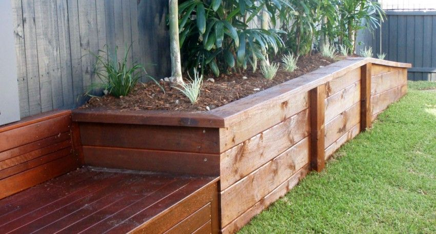 Diy Planter Boxes Used As Retaining - Google Search | Outside