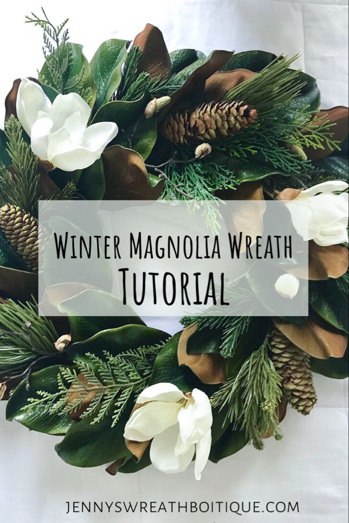 Photo of How to make a Winter Magnolia Wreath