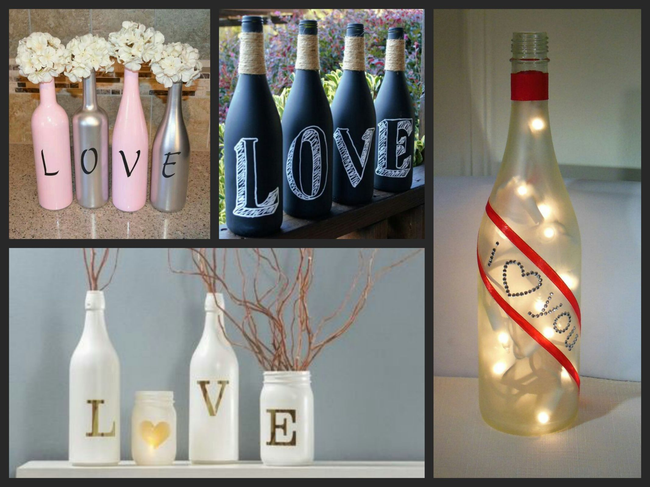 Bottle decorating ideas, glass bottle crafts ideas, Best