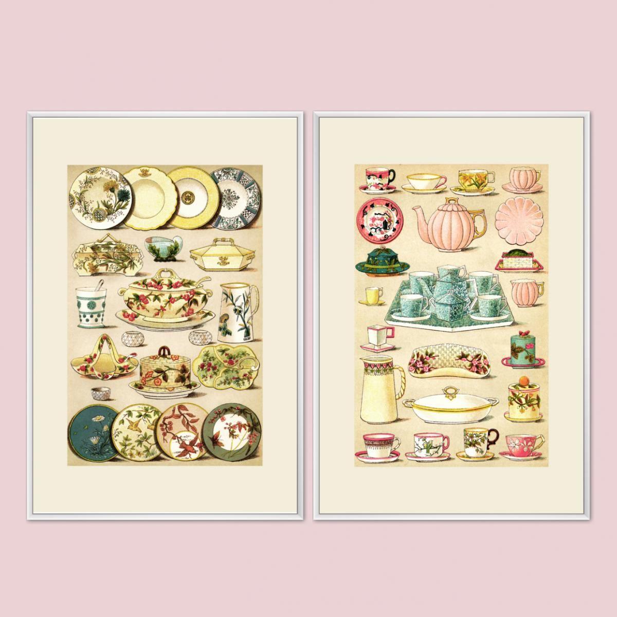 Poster /& Leinwand Quadrat Retro Plakat Cupcake Küche Vintage Postereck 2220