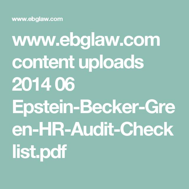 wwwebglawcom content uploads 2014 06 epstein becker green hr