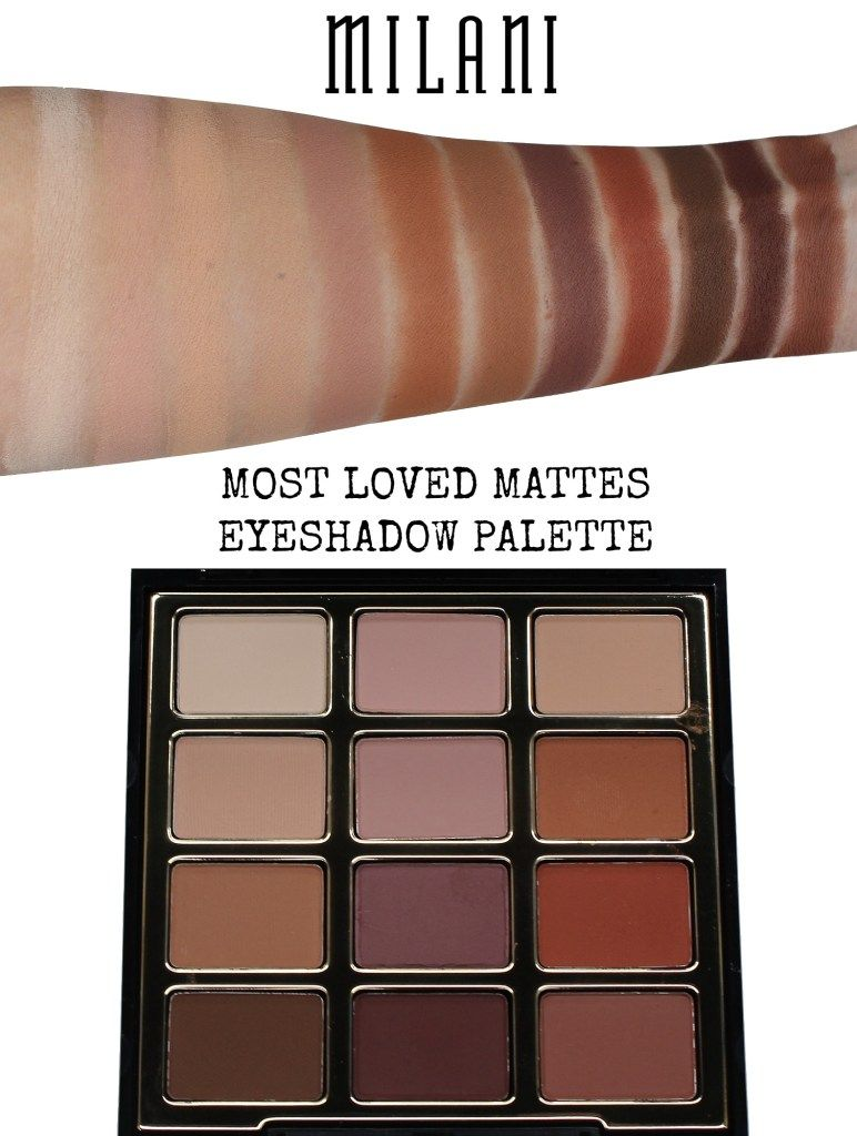 milani most loved mattes eyeshadow palette review & swatches