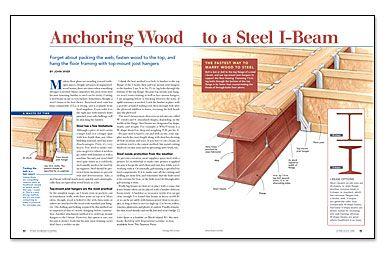 Anchoring Wood to a Steel I-Beam | Architecture + Home Ideas