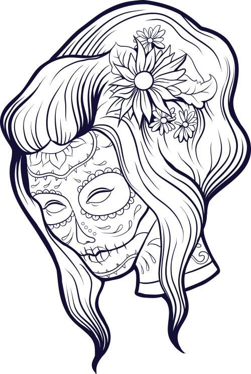 Coloring Pages For Adults Skull : Add some sophistication to your coloring with this advanced