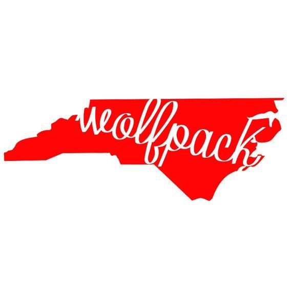 North Carolina State Wolfpack Cutout Decal Shirt