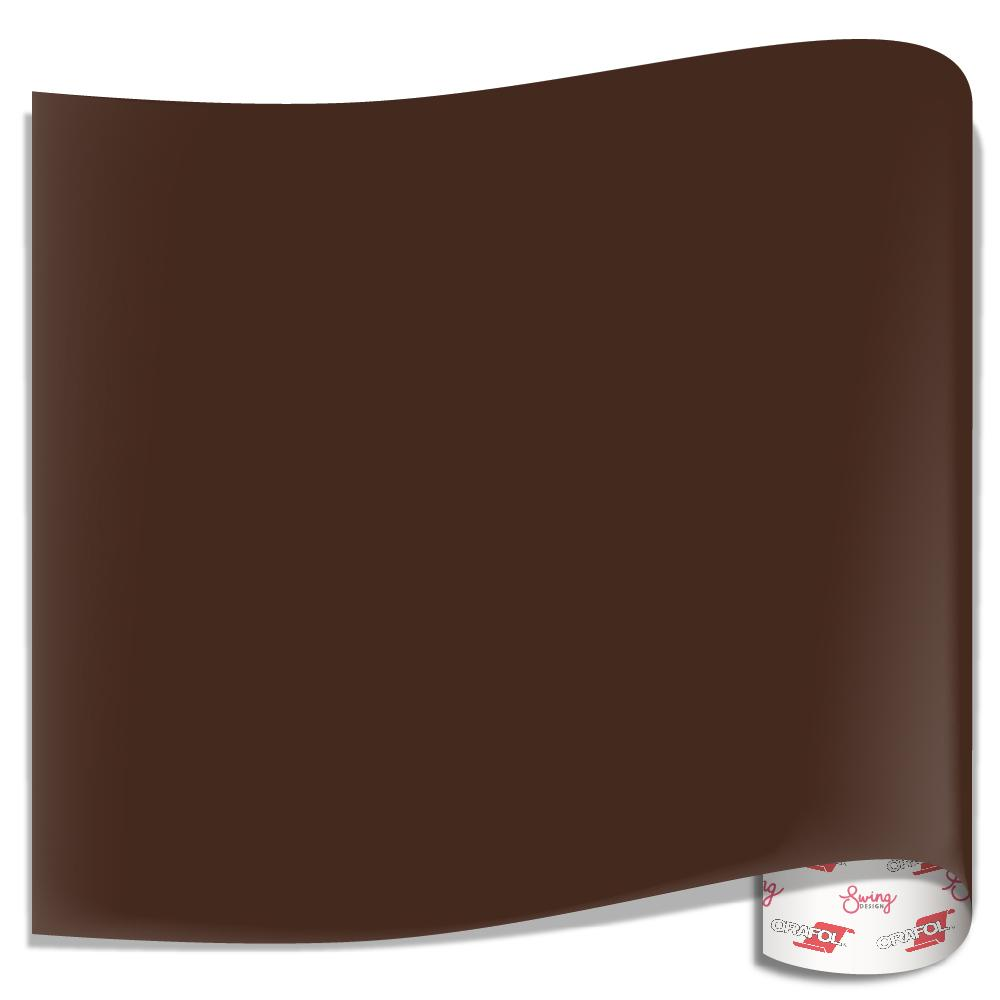 BROWN Glossy Oracal 651 Adhesive Vinyl Sheet for Craft Cricut Silhouette