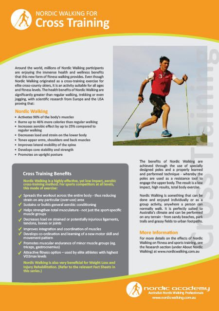Nordic Walking Fact Sheet On Cross Training WwwNordicacademyCom