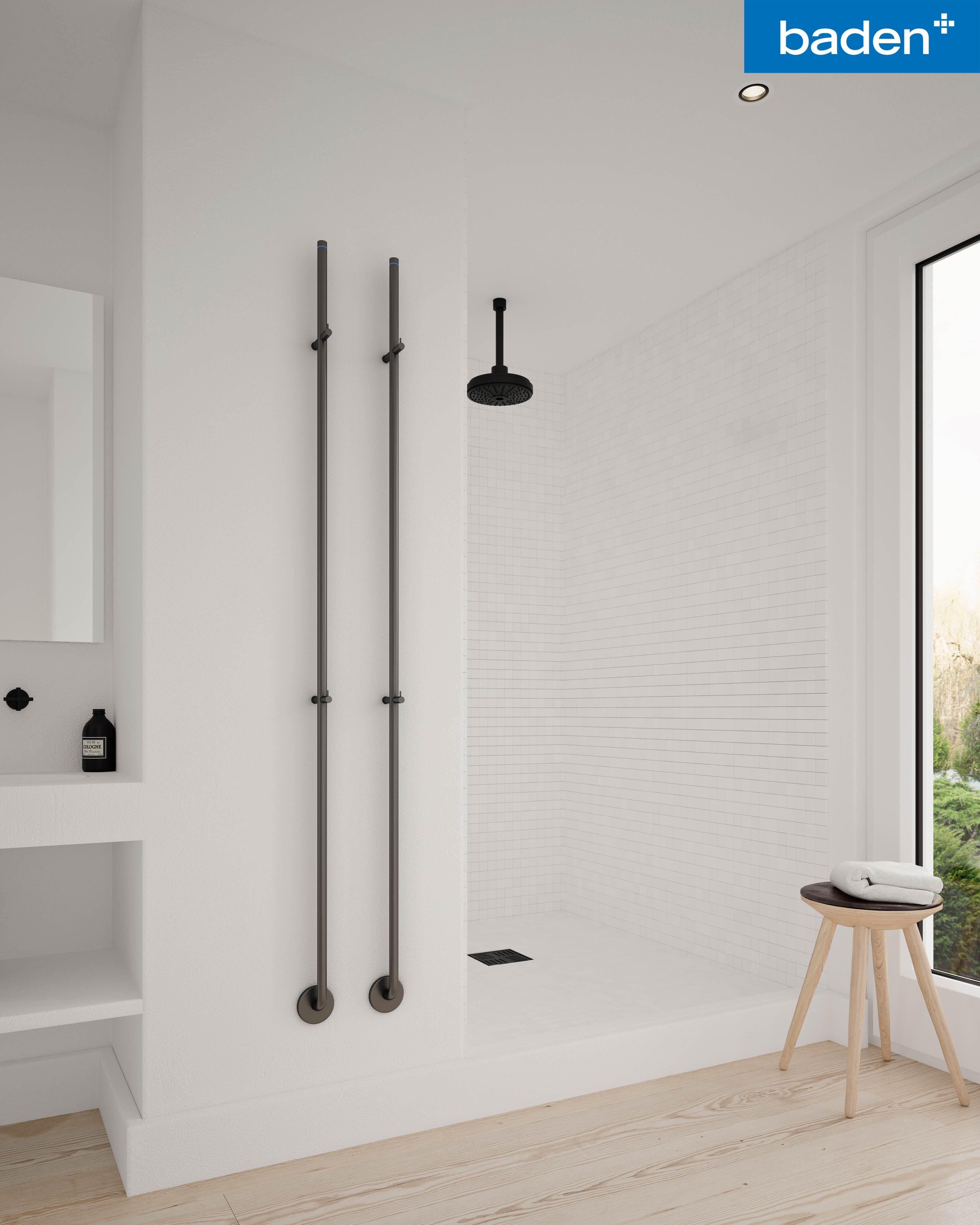 Simpel, elegant en functioneel: deze elektrische handdoek radiator ...