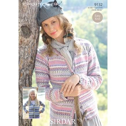 """Lace Cardigan with Knitted Picot Edging Cotton DK 34/""""-36/"""" Knitting Pattern"""