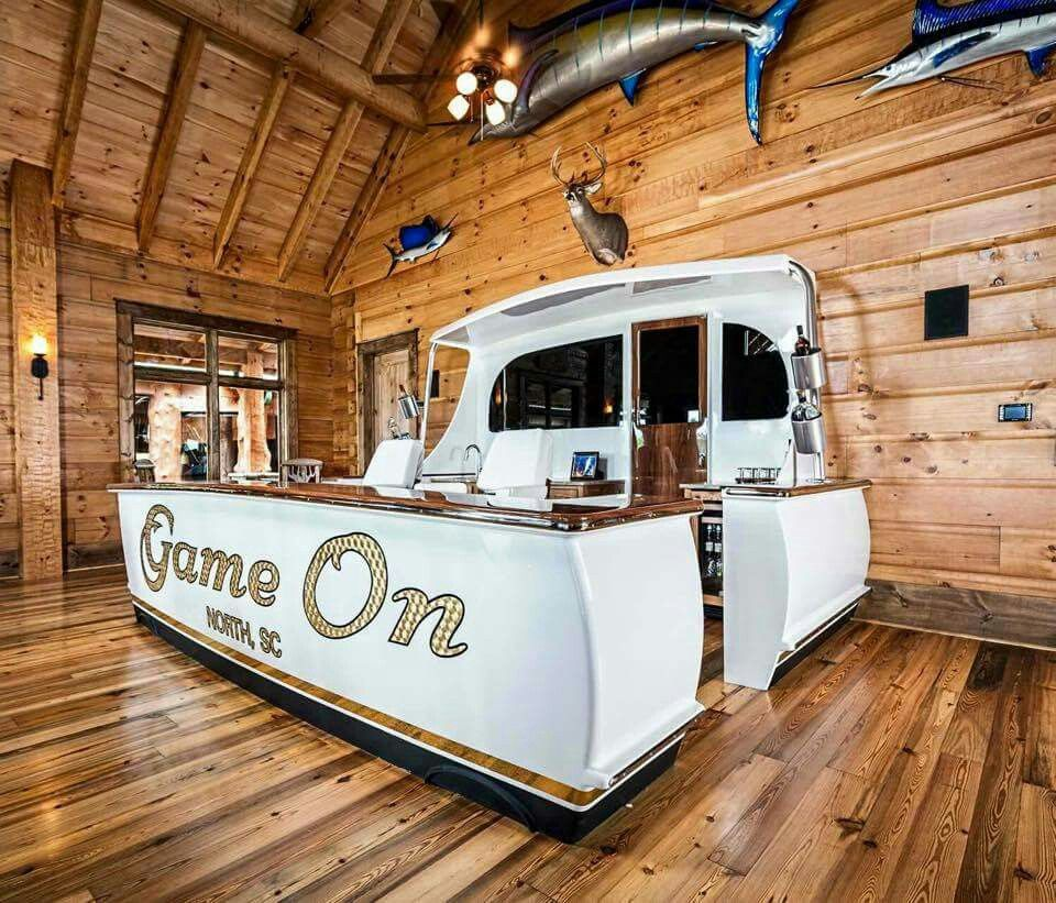 "Luxury Man Cave Game Room Bar With Images: ""Jarrett Flagship Bar"" Built By Jarrett Bay Boat Works"