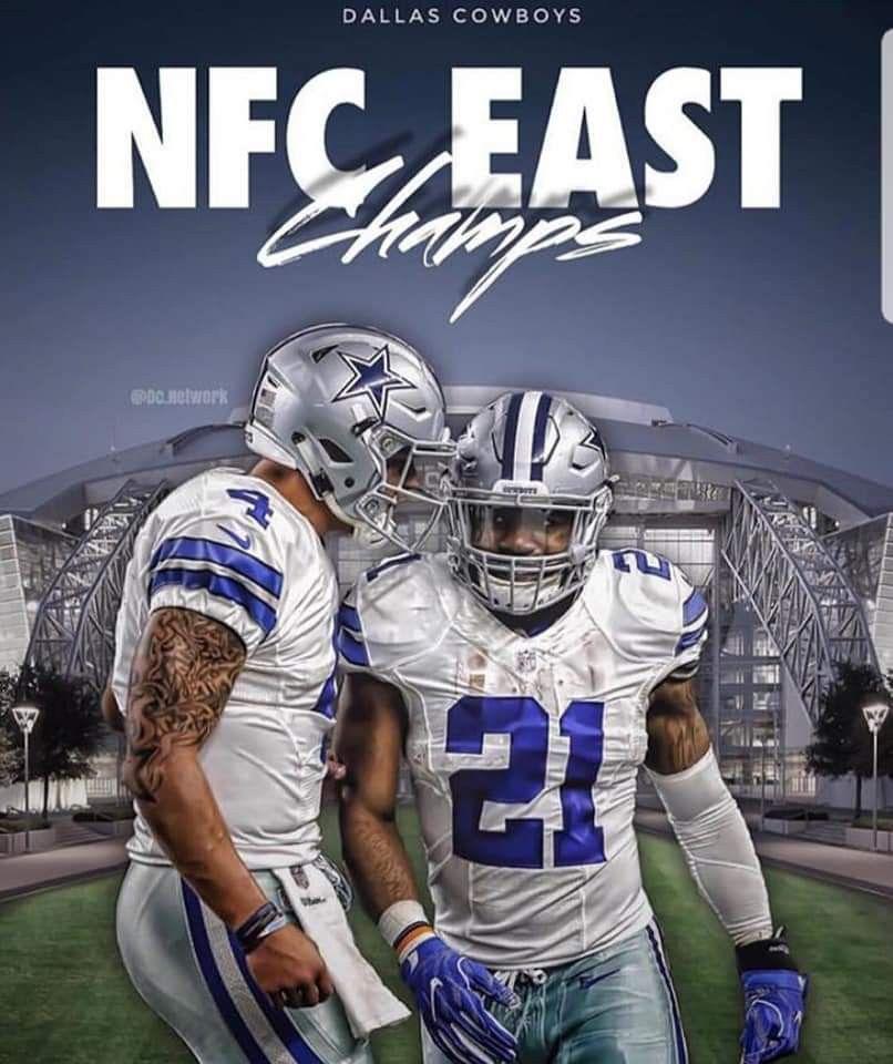 2018 NFC East Champs!! Dallas Cowboys Players 47fd21c05