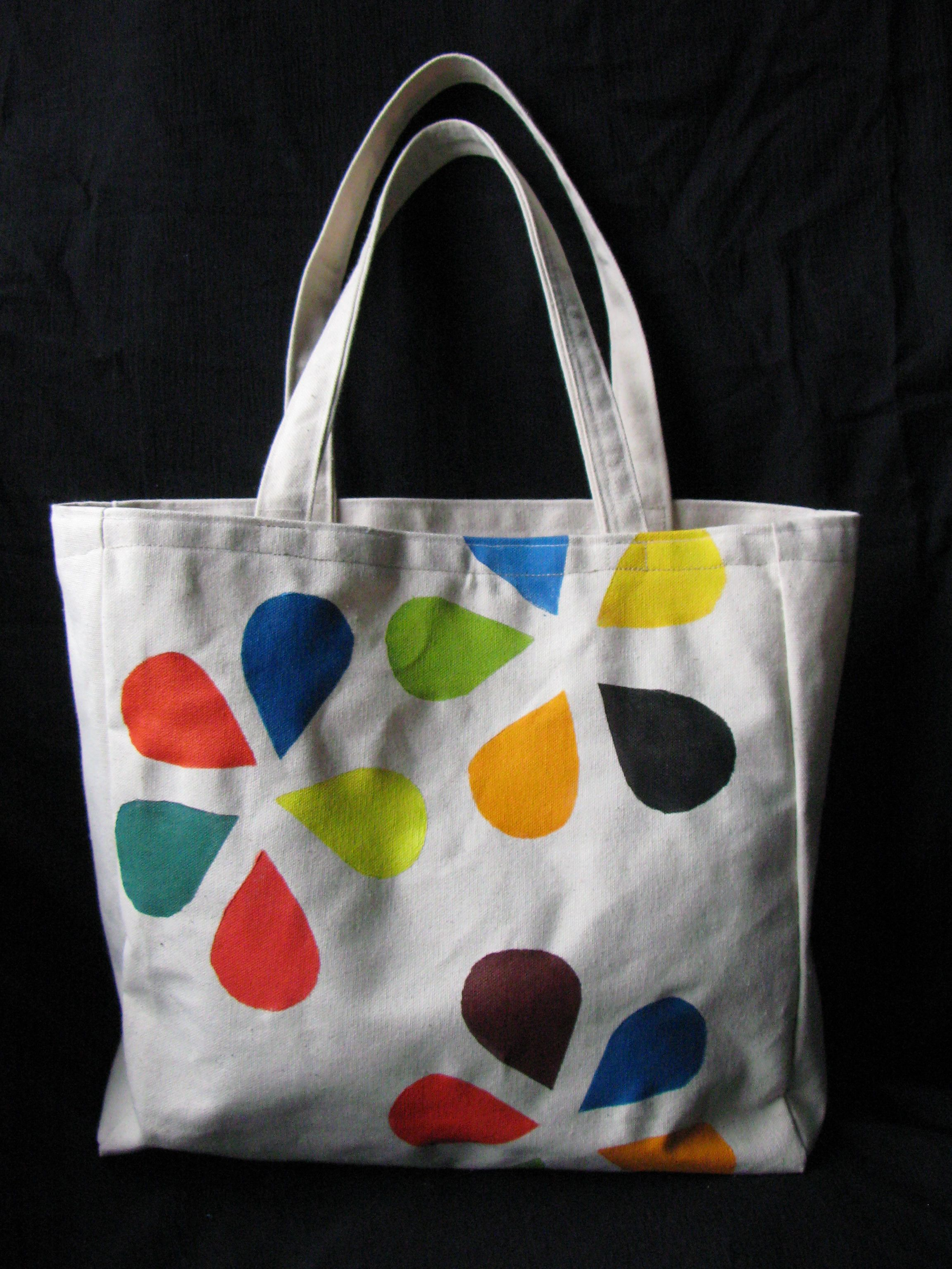 Canvas Bag Acrylic Paint Painted Canvas Bags Cloth Bags
