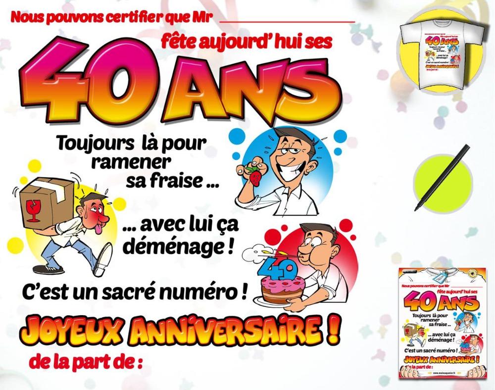carte anniversaire 40 ans humoristique carte anniversaire : carte invitation anniversaire 40 ans gratuite