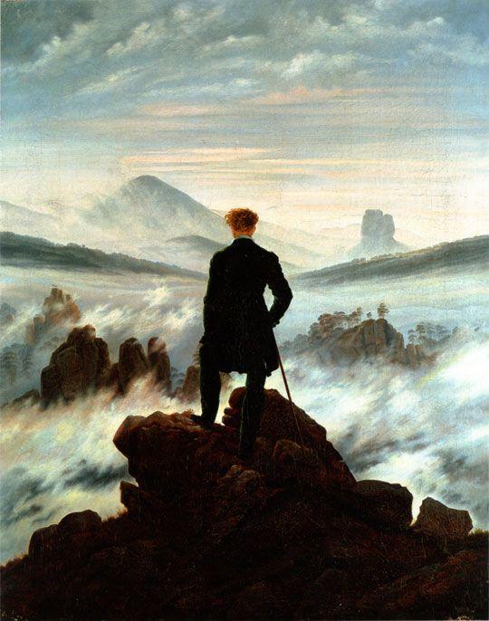 Der Wanderer über dem Nebelmeer, Caspar David Friedrich