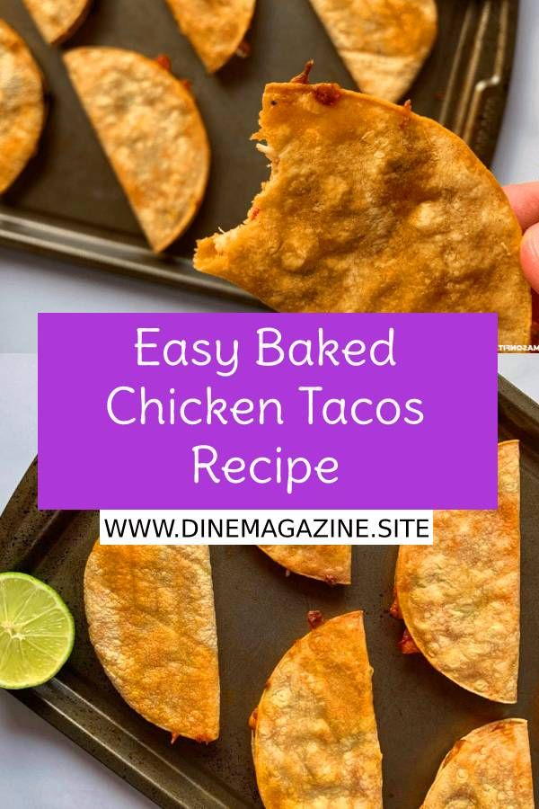 Easy Baked Chicken Tacos Recipe