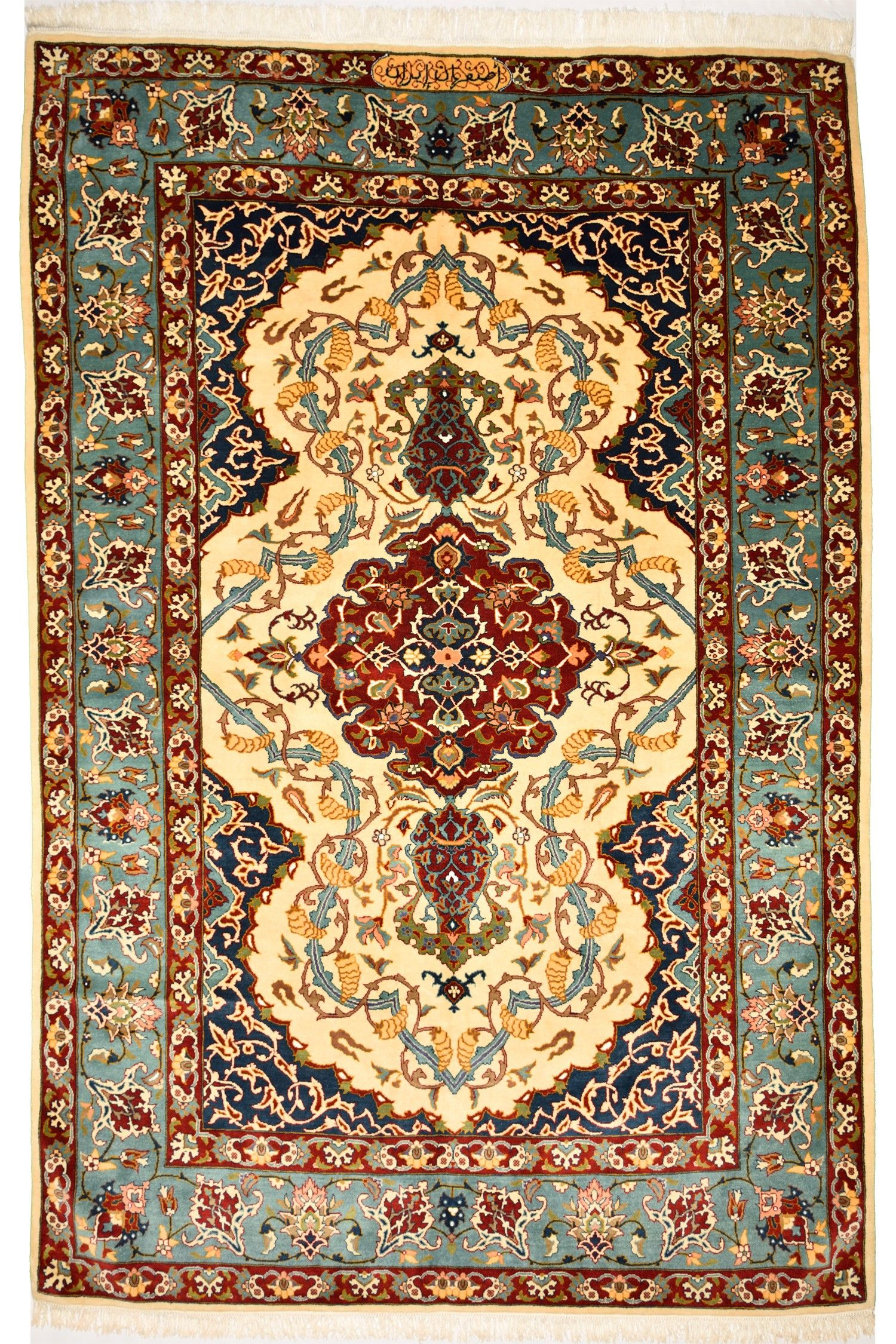 Isfahan Iran Wool And Coton Carpet Dimentions 294cm X 191cm Knot 36 Per Cm2 Price 1650 Save Up To 150 We Appreciate Much A Rugs On Carpet Carpet Rugs