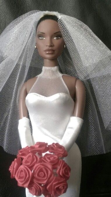 Black Barbie Bride Doll – Fashion dresses #bridedolls