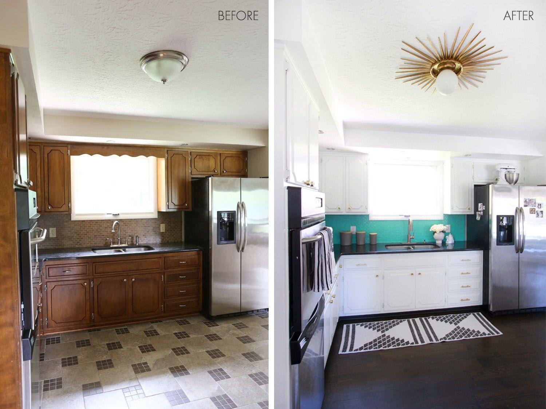 Antes despu s de cocina anticuada a moderna y brillante - Pintar azulejos cocina antes y despues ...