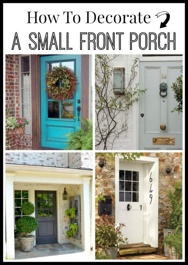 Decorating A Small Living Dining Room: How To Decorate A Small Front Porch