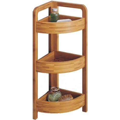 Corner Shelf Shelving Free Standing Shelves Bamboo