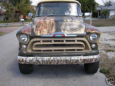 57 Chevy Pickup (Camo Paint)