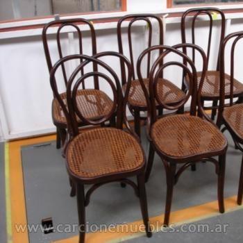 Juego de sillas thonet importadas restauradas
