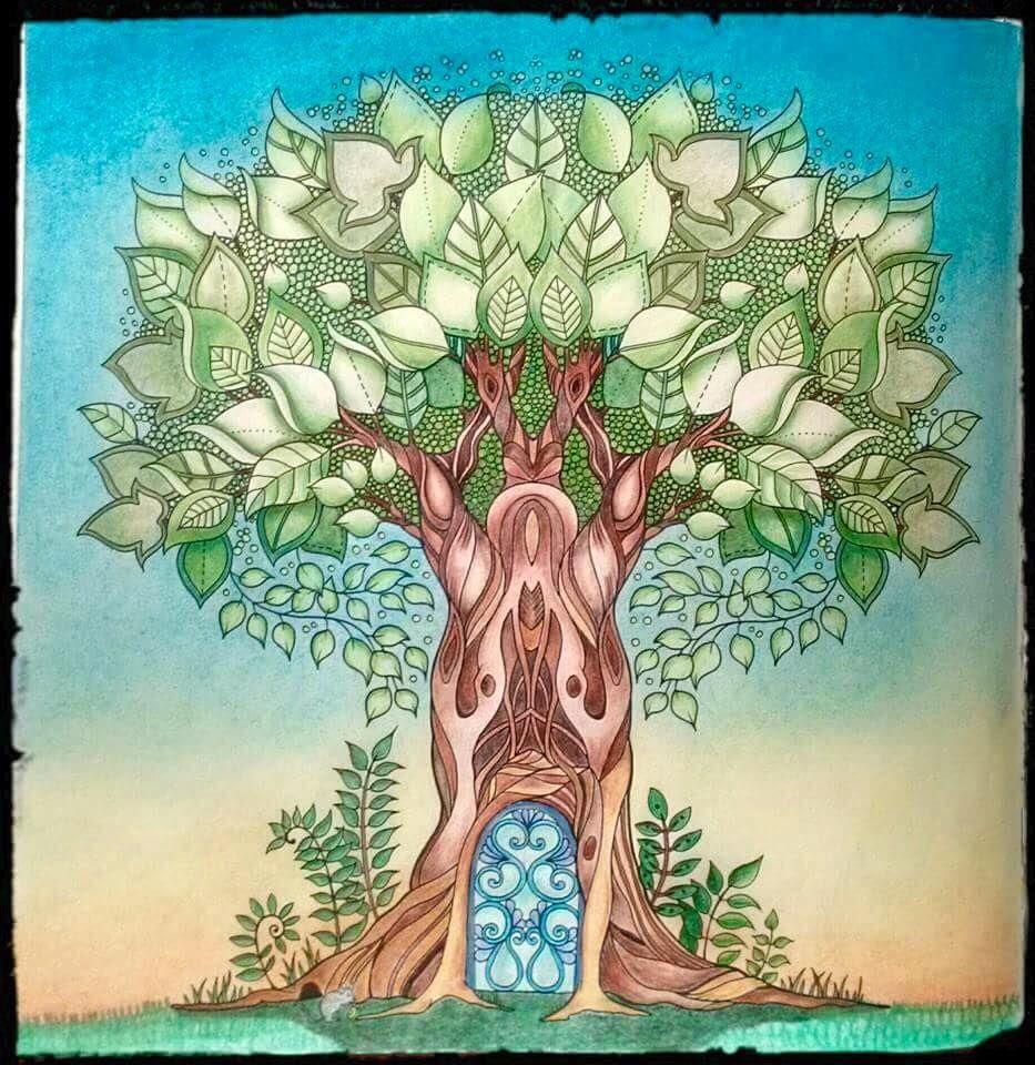 Floresta Encantada/Arvore/Johanna Basford   Coloring Trees ...
