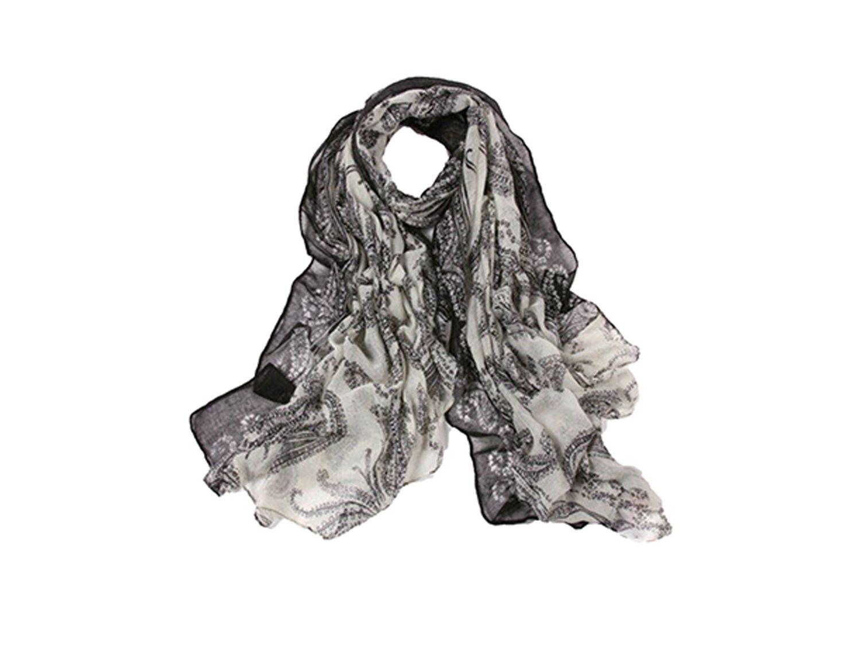 Schal Ornament Schwarz Weiß von La Loria