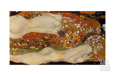 GUSTAV KLIMT WATER SERPENTS ART NOUVEAU GICLEE PRINT FINE CANVAS