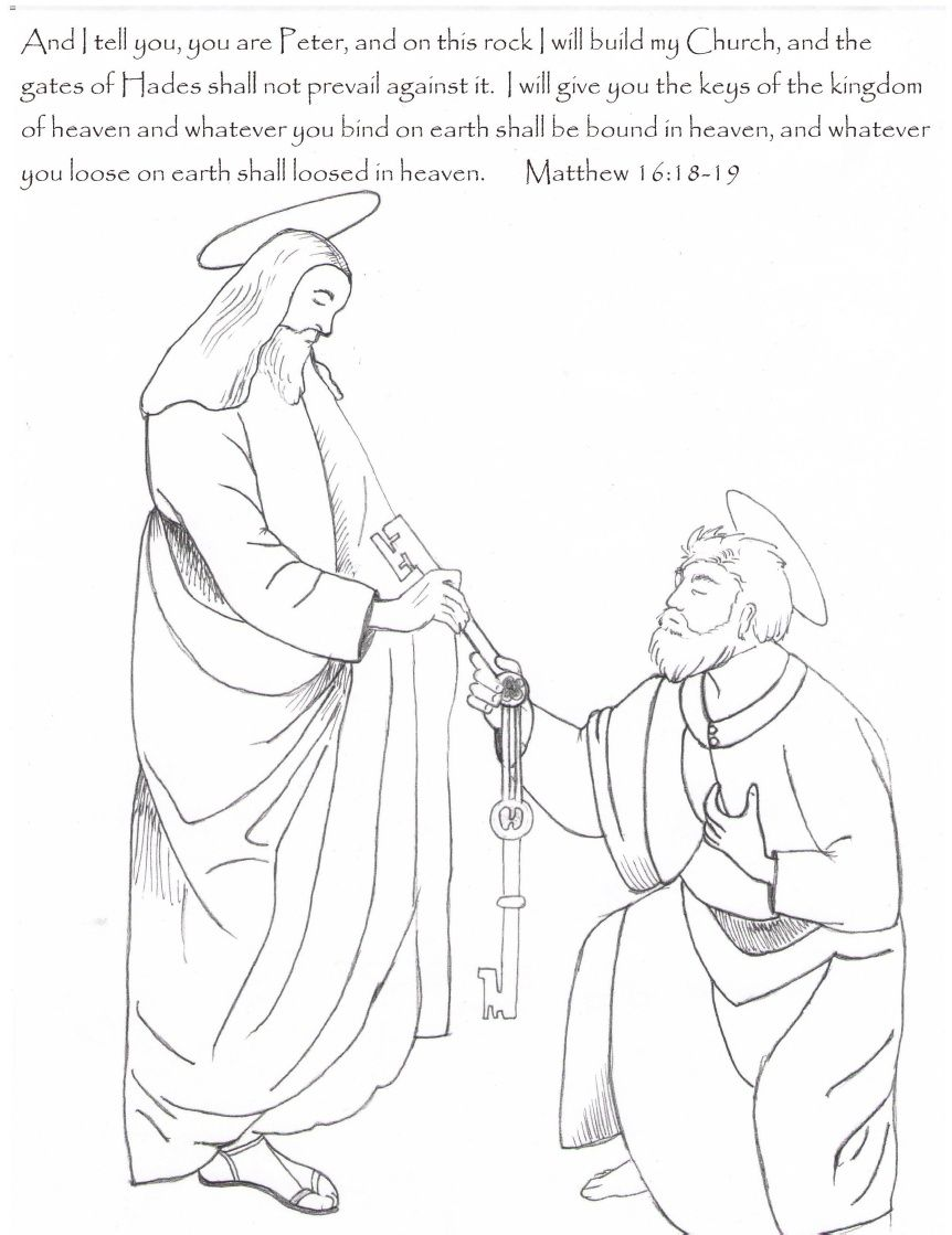 jesus gives peter the keys sunday pinterest key
