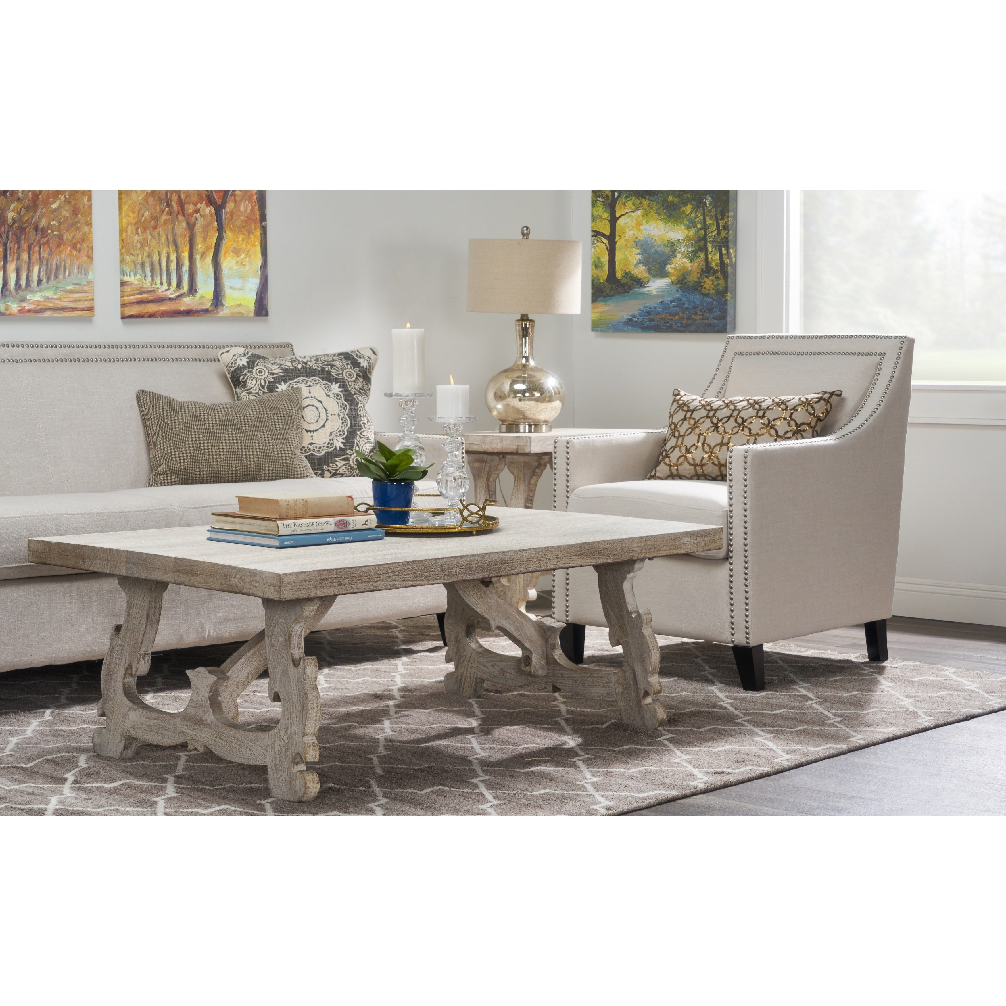 Best Beige Cream Off White White Wood Coffee Tables 640 x 480