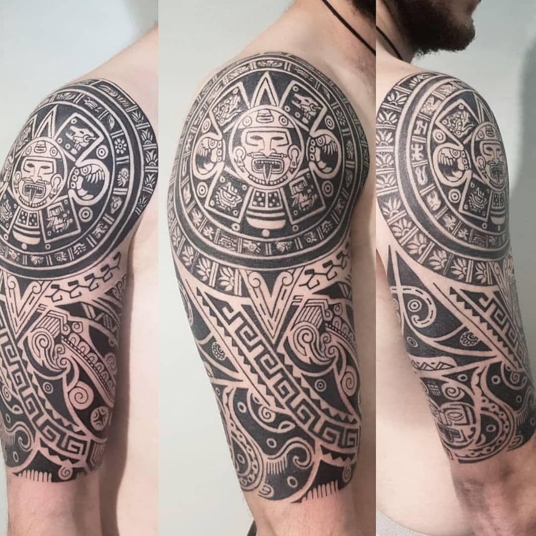 Aztec Calendar Azteccalendar Aztec Aztectattoo Maori