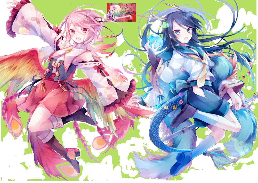 ゚ Anime Artwork ゚ Dragon Y Phoenix By Nunnallyrey On