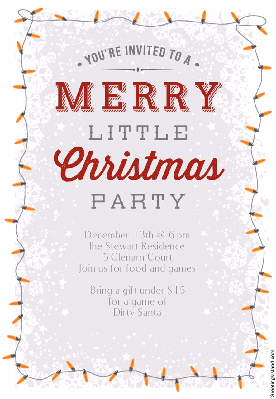 15 Free Printable Christmas Party Invitations: A Merry Little Christmas  Party Invite From Greetings Island